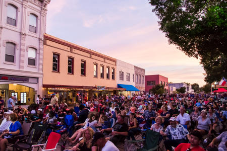 Hot Nights, Cool Tunes in Brenham.  Client: Brenham Chamber of Commerce.