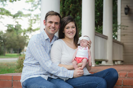 Family Newborn Portraits Brenham